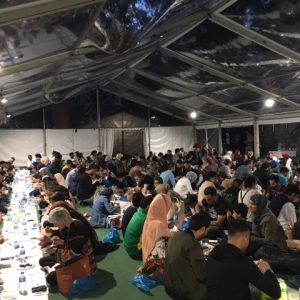 Open iftar at the Ramadan Tent in London