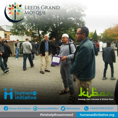 Fundraising at Leeds Grand Mosque