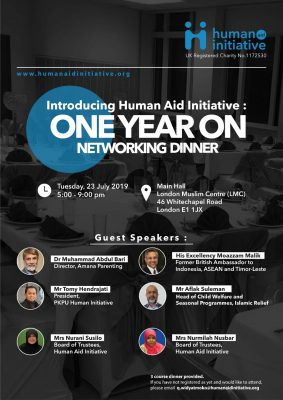 Introducing Human Aid Initiative - One Year On Networking Dinner